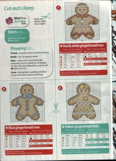 Cross stitch: Gingerbreads