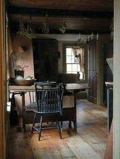 primitive home crossword Primitive Homes, Primitive Dining Rooms, Primitive Kitchen, Primitive Furniture, Kitchen Country, Country Homes, Prim Decor, Country Decor, Primitive Decorations