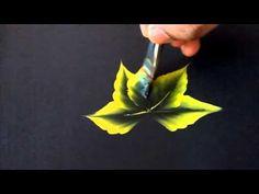 One stroke leaves - YouTube