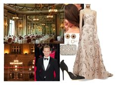 """""""Enjoying a private dinner at Ritz Restaurant with William"""" by audrey-918 ❤ liked on Polyvore featuring Carolina Herrera, Shreve, Crump & Low, Elise Dray, MANGO and Oscar de la Renta"""