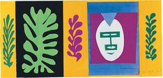 A print of Henri Matisse's 'The Eskimo'. The original was created in 1947 and was made from gouache on paper, cut and pasted.