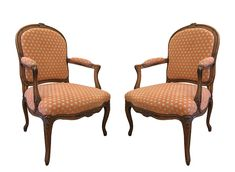 A Pair of Early Century French Stained Beechwood Fauteuils in the Louis XV Style. Antique Furniture, Pairs, French, Antiques, Gallery, Home Decor, Style, Lounge Chairs, Antiquities