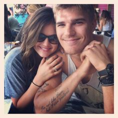 Chris Zylka for Travis (maybe Colton Haynes i dont know) and Lucy Hale for Abby in  Beautiful disaster <3