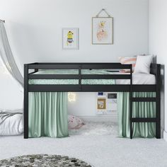 diy loft beds for small rooms ~ diy loft bed . diy loft bed for kids . diy loft bed for adults . diy loft beds for small rooms . diy loft bed for kids how to build . diy loft bed with desk . diy loft bed for kids small room Loft Beds For Small Rooms, Bed For Girls Room, Girl Room, Low Loft Beds For Kids, Small Bedroom Ideas For Teens, Girls Twin Bed, Cool Beds For Kids, Small Beds, Twin Beds For Kids