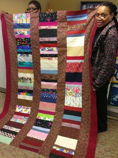 Women of the ELCA Staff quilt for Lutheran World Relief.