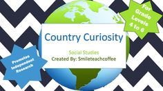 Country Curiosity is a fun way to ignite student interest on a global scale…