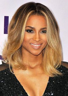 Ciara Ombre Honey Blonde Color Medium Bob Virgin Hair Lace Wigs #Ciara #wig #ombreBob