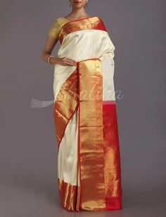 Mahati Sublime Plain Sophisticated Real Zari #KanjeevaramSilkSaree
