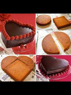Kako oblikovati srce tortu