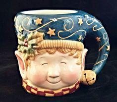 Susan Winget Christmas Holiday Elf Coffee Mug Cup Large Certified International #CertifiedInternational