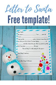 Looking for a Free Santa Letter Template? If your child wants to send a letter to Santa and you want a printable template, here you go.r Free Santa Letter Template, Free Letters From Santa, Letter Templates, Christmas Activities For Kids, Kids Christmas, Christmas Crafts, Crafts For Kids, Merry Christmas, Winter Activities