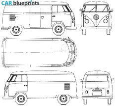 Vw t1 bus type 23 1960 smcars car blueprints forum 1963 volkswagen van blueprint malvernweather Gallery