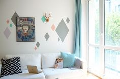 Lovely morning wit wallstickers - diamond shape dekornik.pl