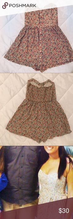 Urban Outfitters Floral Romper; Make an Offer Worn once for 🎓. Such a gorgeous and well fitting Romper! Super comfortable! Shorts built in underneath, otherwise looks like dress! Size XS, can also fit small as that's my usual size. Urban Outfitters Dresses
