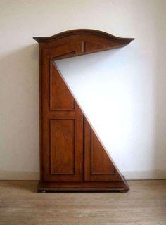 Refurbished Furniture Installations - The Hannes Van Severen Wardrobe Sculptures Transform Armoires (GALLERY)