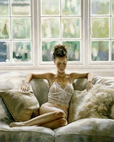 Chic realistic paintings by exceptionally talented figurative artist: Rob Hefferan