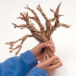 These gnarled, freestanding trees create a fitting backdrop for Halloween decorations, such as Salt Dough Ghosts or other tabletop ornaments. You can even turn the trees into goody bags by filling them with candy (in lieu of the pebble weights).