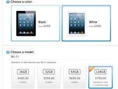 Apple's 128GB iPad Goes On Sale, Just Ahead Of Microsoft's Surface Pro Launch