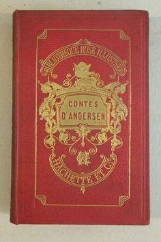 Contes d Andersen, édition Bibliothèque Rose, illustrée de 40 vignettes, 1902