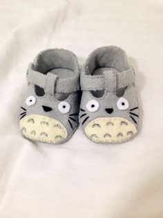 Totoro Baby Shoes Baby Booties Baby Slippers by AWhimsicalHoot