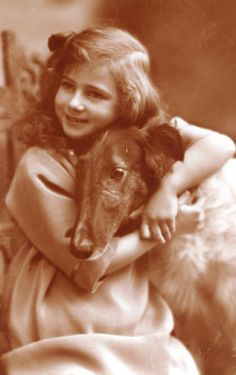 Princess Ileana of Romania. In Ileana entered the Orthodox Monastery of… Vintage Pictures, Old Pictures, Romanian Royal Family, Russian Wolfhound, The Transfiguration, Me And My Dog, Lovely Creatures, Dogs And Kids, Vintage Dog