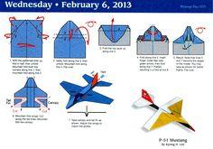 Paper Airplane Calendar