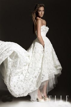 2013 Leah Da Gloria Wedding Dress...shorter in the front, long in the back