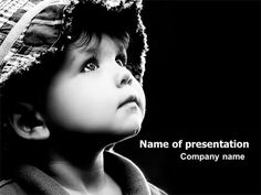 Child In Black And White PowerPoint Template