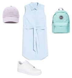 """""""Blue"""" by sofya-2 on Polyvore featuring Hype, NIKE and Vans 2 In, Vans, Nike, Polyvore, Image, Fashion, Moda, La Mode, Van"""