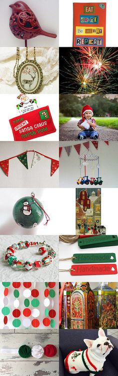 Christmas, Christmas everywhere! by Graciela Gacek on Etsy--Pinned with TreasuryPin.com