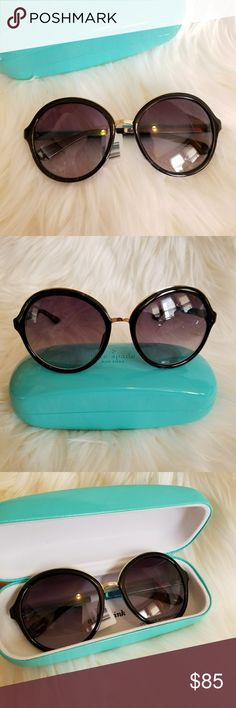 Kate Spade Annabeth Black Sunglasses Eyewear Brand new with tag and case. Blue plastic film is still on. kate spade Accessories Glasses