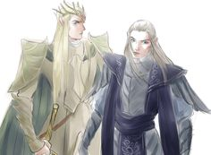 Thranduil and Celeborn- Credit to original artist