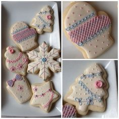 I was inspired to do these cookies using baby shower icing I had on hand after a friend sent me a picture of a cookie in a different color s...