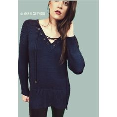 Luxe' Thick Knit Blue knit sweater high quality knit for winter and fall gorgeous thick knit with tassels with gold hardware on ends. Tea n Cup Sweaters V-Necks