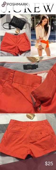 J crew  Orange coral shorts J crew shorts great condition, size 0 J. Crew Shorts Skorts