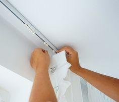 DIY: Gardiner på en skena i taket - 34 kvadrat - Metro Mode