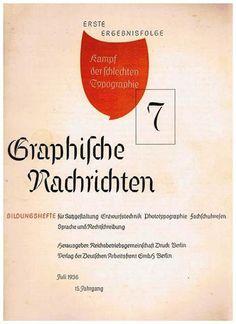 Cover Graphische Nachrichten, 15. Jahrgang, Heft 7, Juli 1936