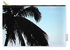 Carry-all Pouch featuring the digital art Tropical Sea View From Patio by Francesca Mackenney Pouches, Carry On, Digital Art, Tropical, Patio, Sea, Hand Luggage, Terrace, Hand Carry Luggage