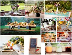 images of outdoor picnics | Photo Credits: Lisa Lefkowitz, Bella Figura, Country Living, Azura ...