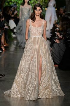 Okay so a girl can dream - this dress is exquisite and maybe one day I'll have a place to where it to! Or actually maybe one day I'll just be able to own it and prance around the house! Elie Saab at Couture Spring 2015 | Stylebistro.com