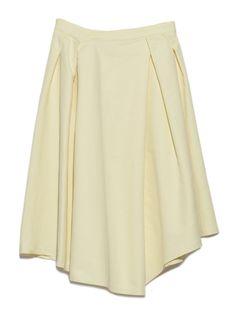 【emmi atelier】アシンメトリータックスカート(膝丈スカート)|emmi(エミ)|ウサギオンライン公式通販サイト