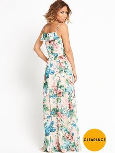 625cdade08 Myleene Klass Floral Print Ruffle Detail Maxi Dress Super girly and just as  flirty, this. More information