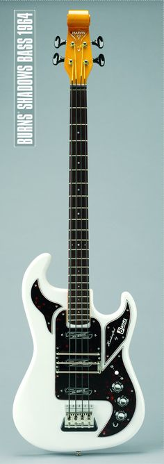 Beautiful Burns Marvin 1964 English-made bass as used by Tony Jackson of The Searchers and John Rostill of The Shadows.