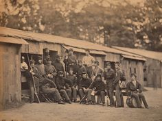 Photographs of the American Civil War Camp Sprague, First Rhode Island Regiment, Company D before July 16,1861