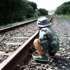 """""""Another day another adventure - Checking out the local railroad tracks (which aren't used during…"""""""