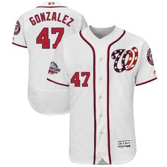 080809c3592 Gio Gonzalez Washington Nationals Majestic 2018 All-Star Game Home  Alternate Flex Base Player Jersey – White