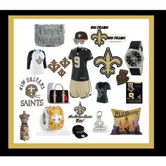 """The New Orleans Saints"" by sawilson98 on Polyvore"