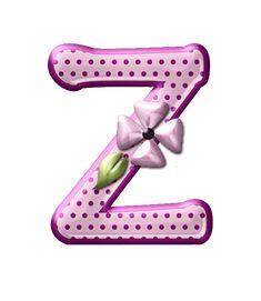 Alfabeto floral rosas...Z