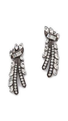 Ben-Amun Ornate Crystal Earrings