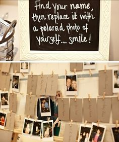 Cute Idea for replacing name tags with a picture of your guests.